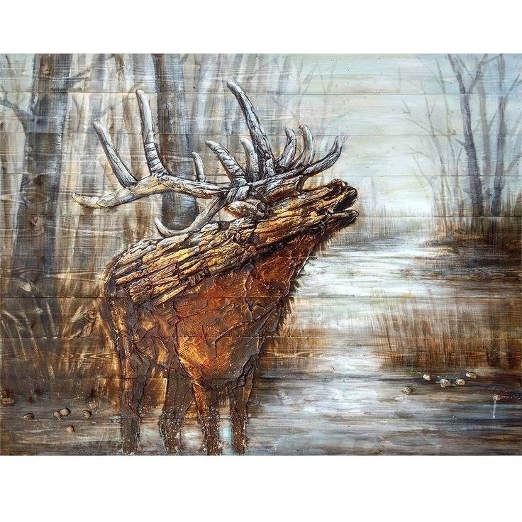 Elk Wood Wall Art | The Call | Crestview Collection