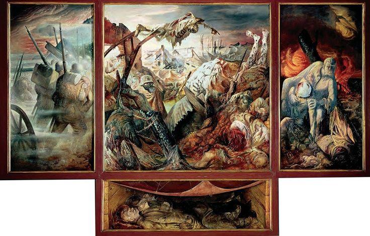 Otto Dix. « La Guerre » est une œuvre datée entre 1929 et 1932, exposée à Dresde (204x204 cm.).