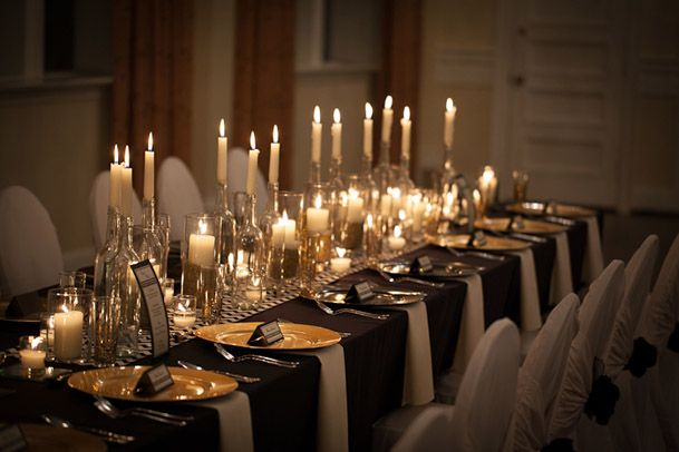 black gold new years wedding 22  gatsby wedding  Gold wedding centerpieces Gold wedding