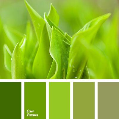 Harmonie vert feuille I Design I Couleur I Inspiration I Camaïeu I Peinture I