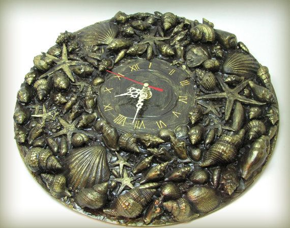 Brown & Gold Marine Style  Wall Clock