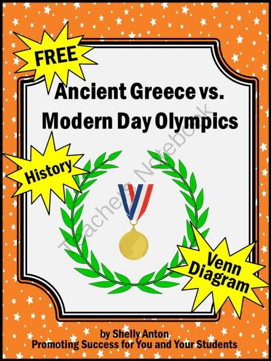 Olympics Free Ancient Greece Vs  Modern Day Research And Venn Diagram From Promoting Success On