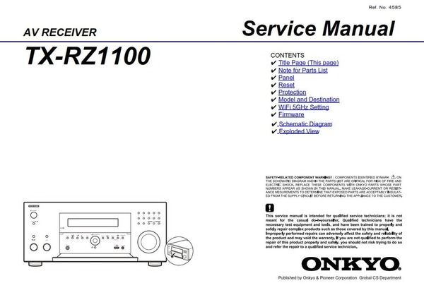 Pin On Onkyo Integra Audio Video Service Manuals