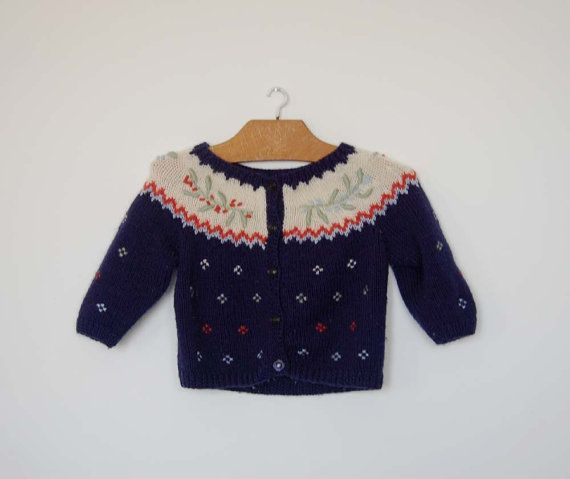 Vintage French Hand Knitted Cardigan  Size by petitbonhommevintage, $10.00: Knits Cardigans, Hands Knits, Kids Style, Cardigans Size, Vintage French, French Hands