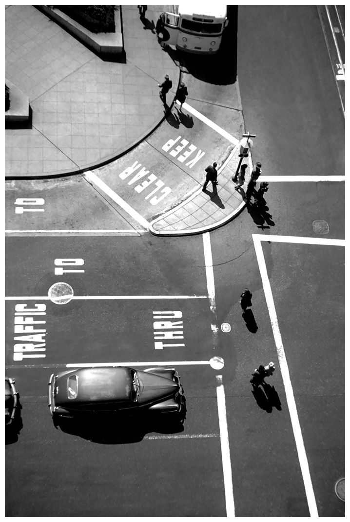 Fred Lyon  San Francisco. Post and Powell, Union Square, 1947