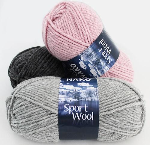 NAKO Sport Wool  Karışımı(Hammaddesi): %25 Yün, %75 Premium Akrilik   Yumak Gramajı: 100,00 gr.   Etiket Metrajı: 120,00 mt.   Mevsim: Kış, Sonbahar   Nerede kullanılabilir:  Atkı, şapka, bere, panço, hırka vb. ürünler