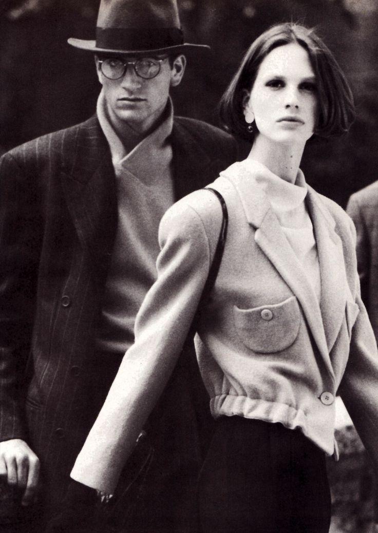Giorgio Armani, Harper's Bazaar, September 1988. Photograph by Aldo Fallai.