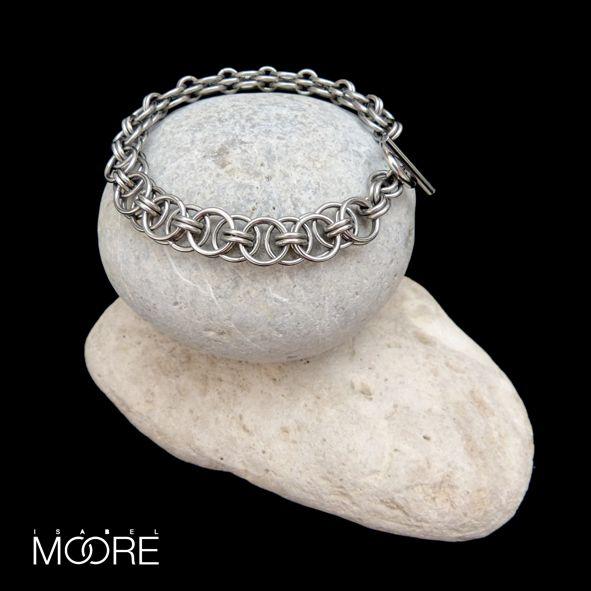 Zen Bracelet handmade from Stainless Steel http://isabelmoore.com/products/zen-bracelet