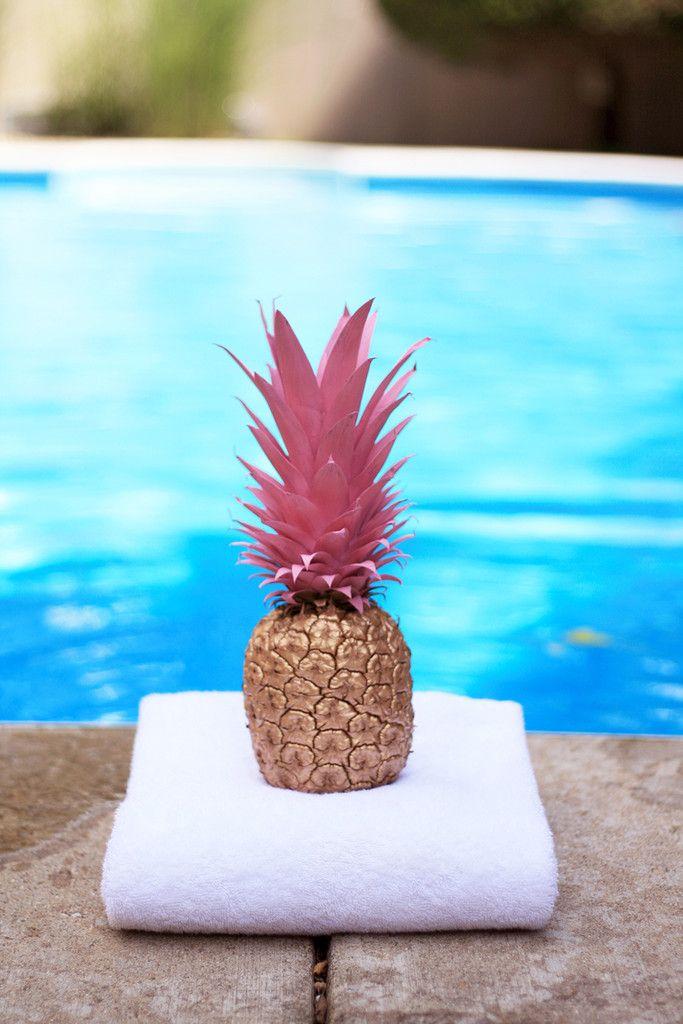 Pineapple centerpiece diy centerpieces and