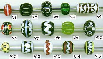 Modern Reproductions of Viking Age Glass Beads  created by Mistress Agnes of Whitby (Cami Ruh Clemo)
