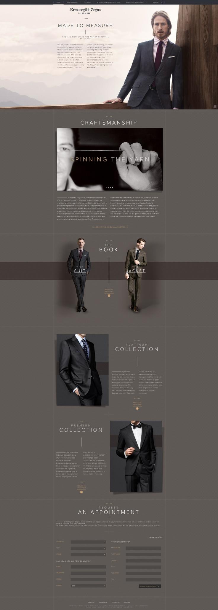 #houseofwebsites   Ermenegildo Zegna Web Design