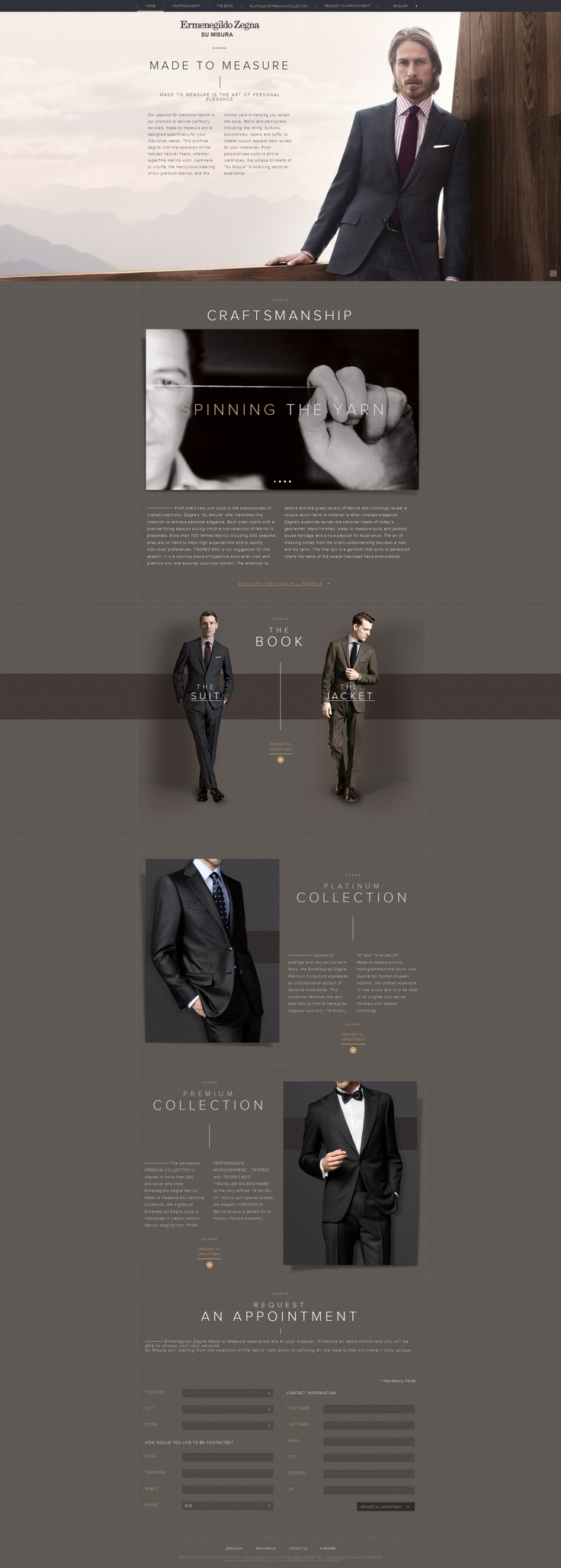#houseofwebsites | Ermenegildo Zegna Web Design