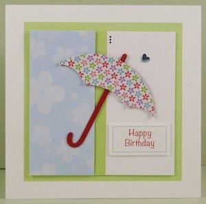 Handmade Umbrella Birthday Card - www.threedotcards.co.uk