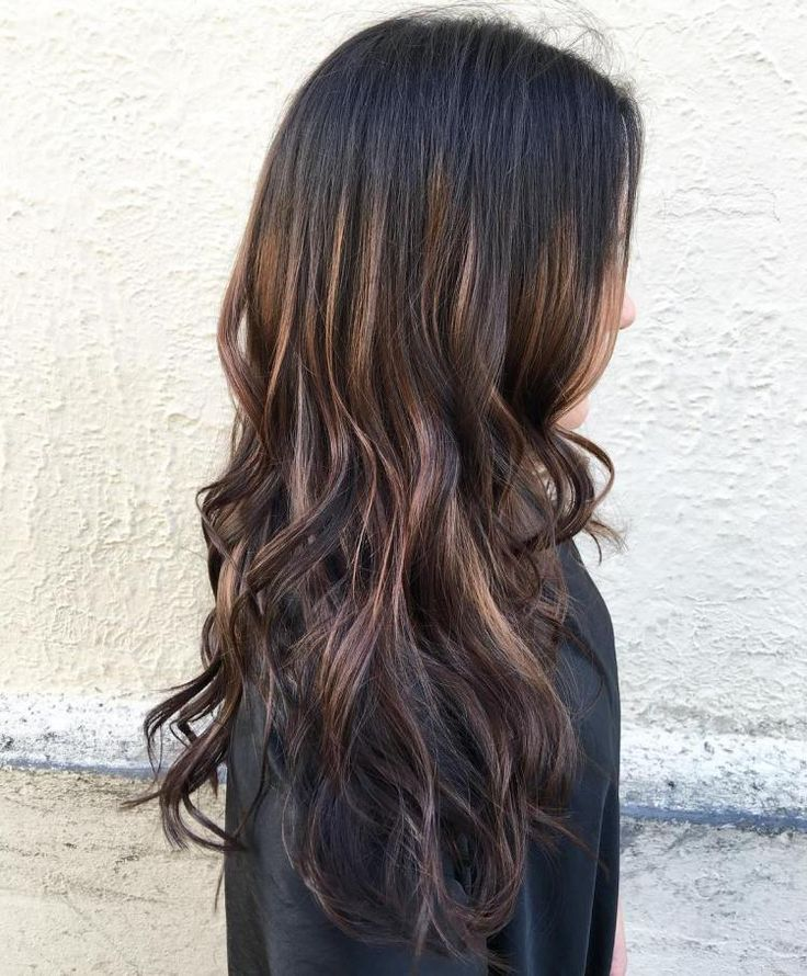 Black To Brown Ombre With Highlights