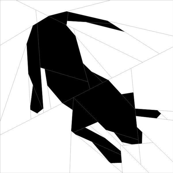 Silhouette Dog #3 Paper Piecing Pattern quiltartdesigns.blogspot.com