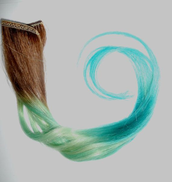 "beautiful colors Brown/ (2) Pieces-1.5"" Long /Any Color to Ombre / Sample Size / Colored Tips  / Choose your colors / 18"" to 20"" Long"