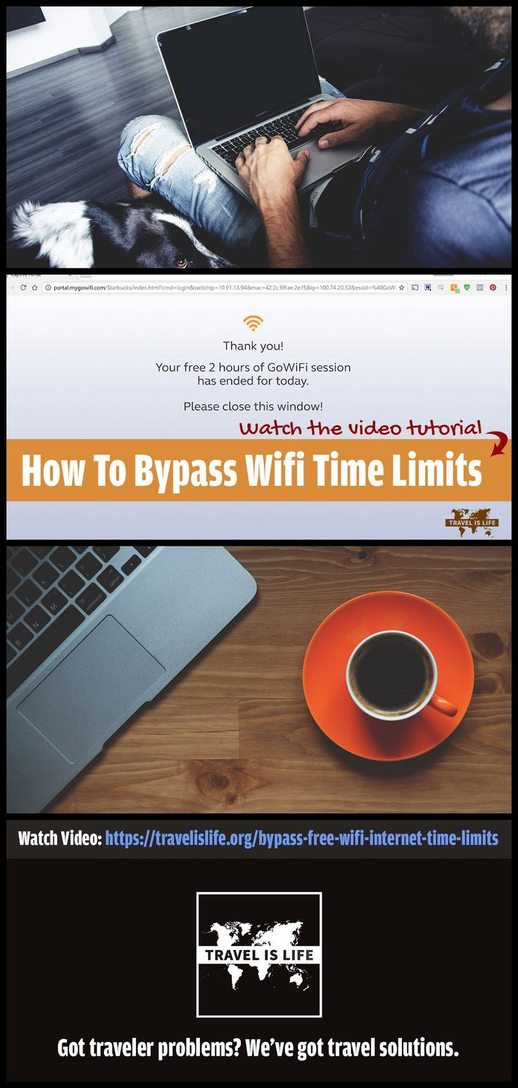 """Have you reached the time limit on your free WiFi connection at the coffee shop? Learn how to bypass those pesky WiFi time restrictions by changing your laptop's MAC address, a practice commonly referred to as """"spoofing your MAC Address"""". Follow the link for easy to follow instructions for both Windows 10 and Mac."""