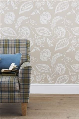 Natural Surface Floral Wallpaper from Next #mycosyhome