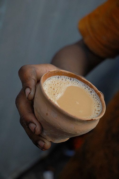 Authentic Chai tea. And once you are done drinking the tea, just smash the cup…