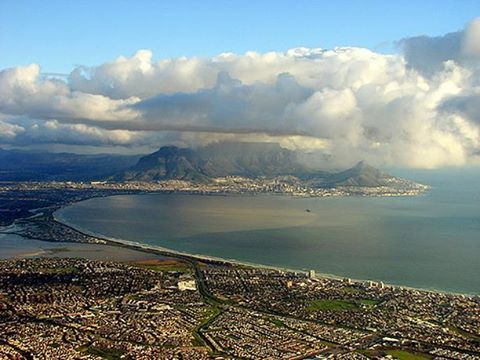 Table Bay - Cape Town - the rainy season clouds are gathering. #TableBay #CapeTown