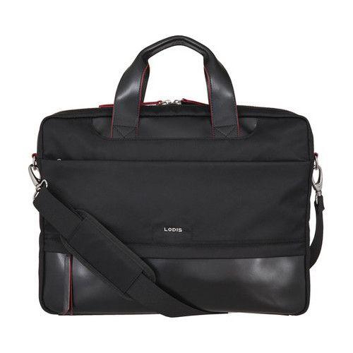 d797bff5c8 Women s Lodis Kate Nylon RFID Alexus Briefcase - Black Zipper ...