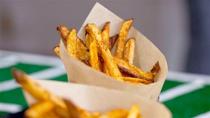 Serena Wolf's Healthy football party food: Juicy flank steak, crispy oven fries