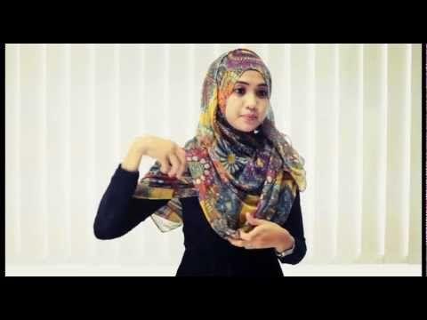 ▶ Shawl/hijab Tutorial 1 - YouTube