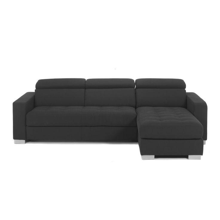 Canapé 3 places convertible avec angle réversible gris Gris anthracite - Mauro - Les canapés convertibles - Canapés et banquettes - Canapés et fauteuils - Décoration d'intérieur - Alinéa