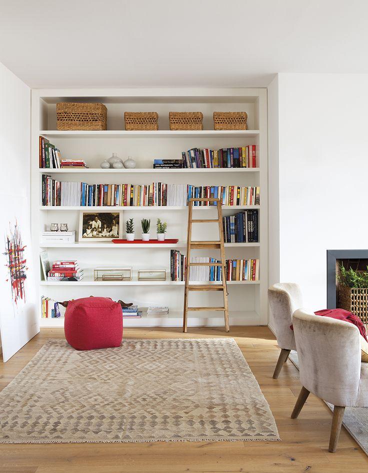 Contigo al fin del mundo librerias en 2019 salones - Librerias salon blancas ...