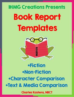 FREE Book Report Templates from IHMG Creations on TeachersNotebook.com -  (10 pages)  - This free resource offers four different book report templates, including fiction, non-fiction, character comparison, and text
