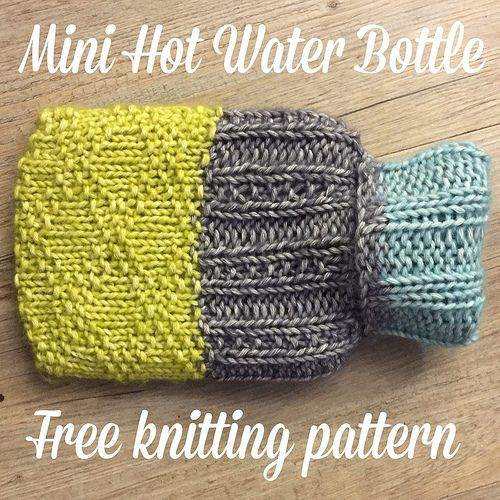 Crafts from the Cwtch: Free Pattern: Knits & Purls Mini Hot Water Bottle ...