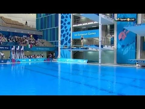 Katherine Torrance  seals Gold for Team GB in the Baku 2015 European Games Women's 3m Springboard with this dive.