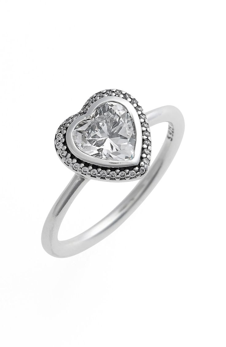 PANDORA 'Sparkling Love' Heart Ring