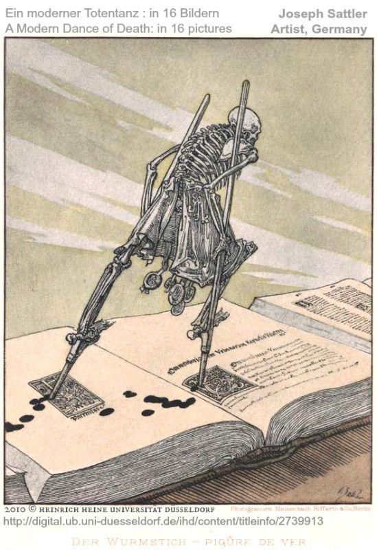 Ein moderner Totentanz: in 16 Bildern / A Modern Dance of Death: in 16 Pictures by Joseph SATTLER (Germany,1867–1931) 2010 © Heinrich Heine Universität Düsseldorf.
