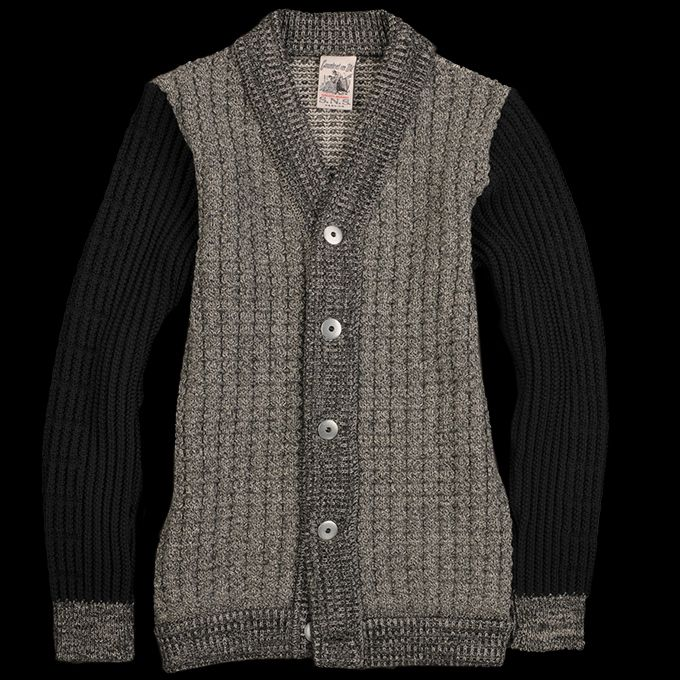 Hybrid Cardigan in Noise Block - SNS Herning