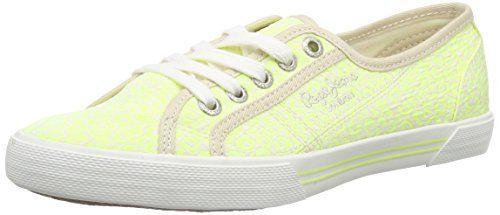 Pepe Jeans London ABERLADY POP, Damen Sneakers, Grün (639LIMA), 36 EU - http://geschirrkaufen.online/pepe-jeans/pepe-jeans-london-aberlady-pop-damen-sneakers-36