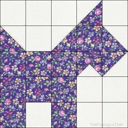 scotty dog quilt block