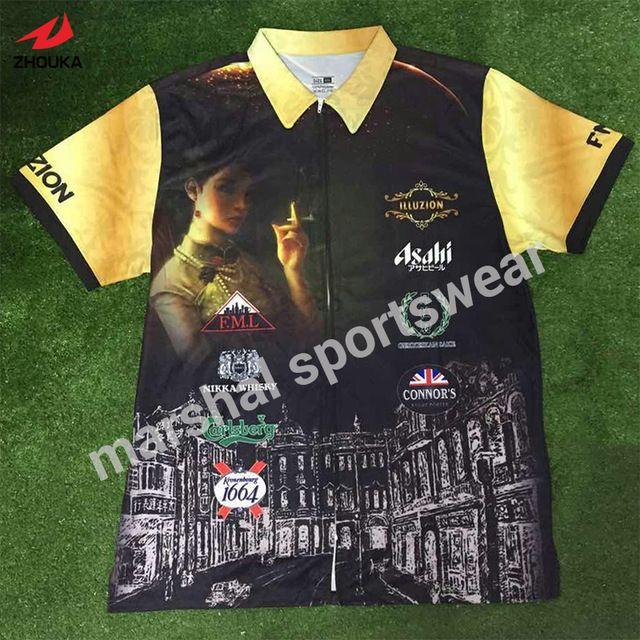 Jérsei de futebol personalizado 100% poliéster sublimação de qualidade superior personalizado gola polo camisa