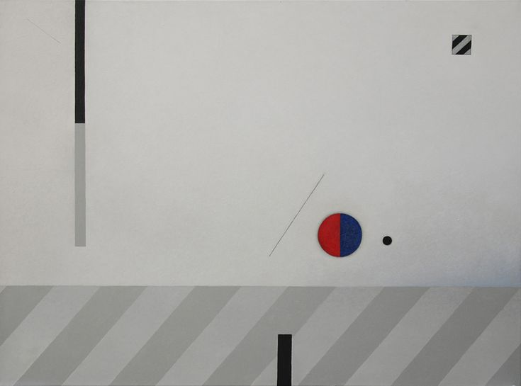 Rita Rodner 2009, acrylic on canvas.  Abstract, geometric composition.