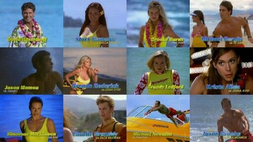 "David Hasselhoff as Mitch Buchannon Stacy Kamano as Kekoa Tanaka Brooke Burns as Jessie Owens Michael Bergin as Jack "" JD"" Darius Jason Momoa as Jason Ioane  Brande Roderick as Leigh Dyer Brandy Ledford as Dawn Masterson Krista Allen as Jenna Avid Simmone Jade Mackinnon Charlie Brumbly as Zach McEwan Michael Newman as himself & Jason Brooks as Sean Monroe"