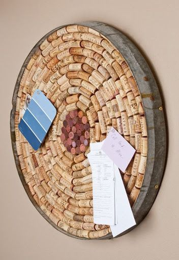 Wine Cork Bulletin Board by alpinewinedesign on Etsy ~ I reckon I could make one of these myself one day; start collecting wine corks (and ask friends to donate used ones too), then when I have enough I?