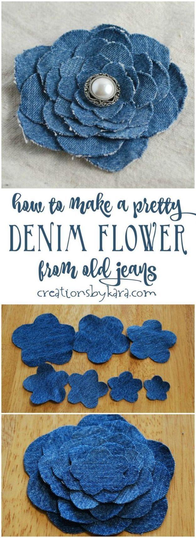 Blue Jean Upcycles – Jeansblüte aus alten Jeans – Wa
