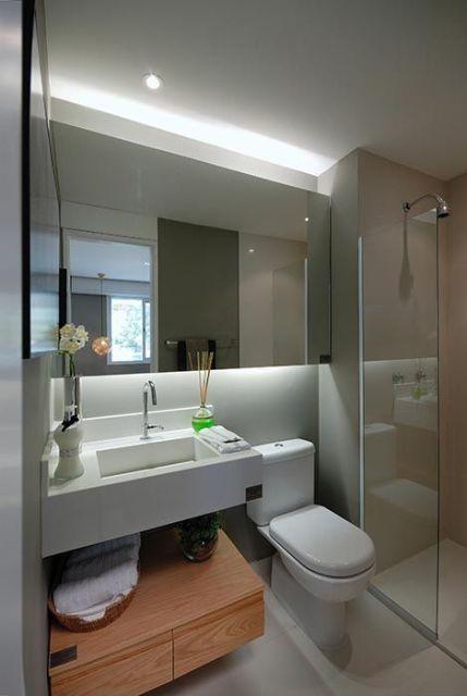 Banheiro pequeno e contempor neo banheiro pinterest Cuartos de bano pinterest