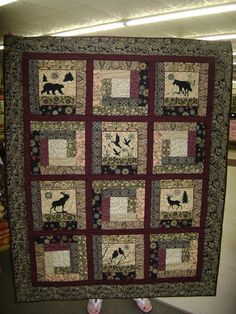 Moose Quilted Wall Hangings And Paper Piecing On Pinterest