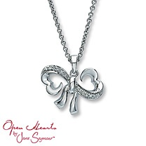 Open Hearts by Jane Seymour® Diamond Bow Necklace