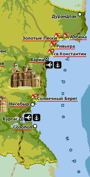 Курорты Болгарии из Минска