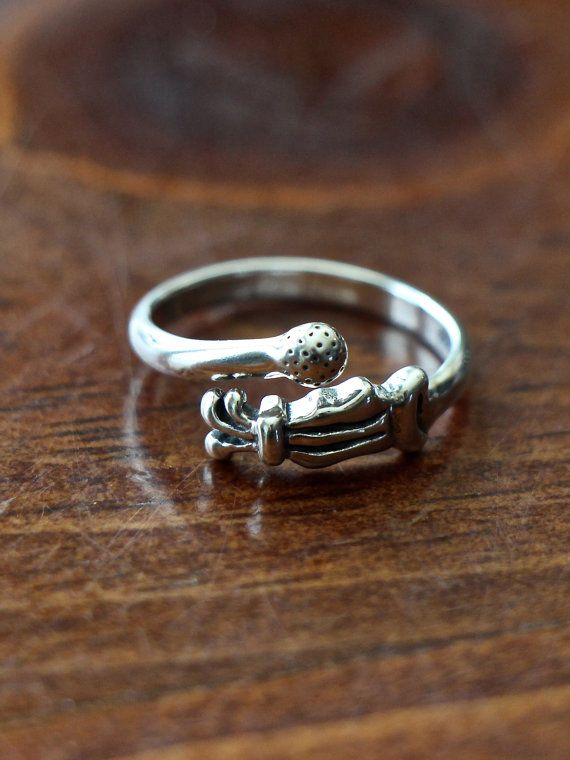 This sterling silver golfers ring is the perfect golf jewelry gift for your yourself, special golfer, golf teacher, golfer or anyone who simply