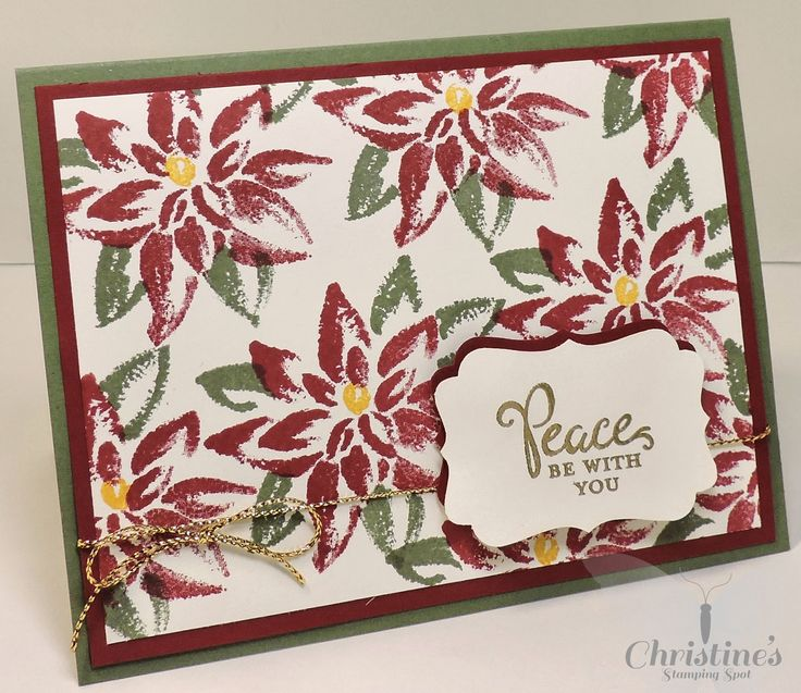 Christmas card using Stampin' Up! proudcts and Stampin' Up! reason for the season stamp set; Christine's Stamping Spot