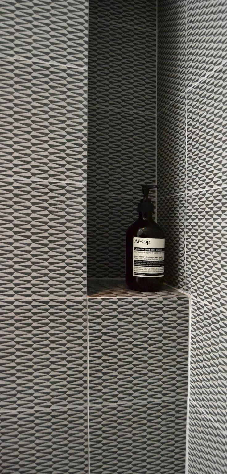 FESTEN architecture -gorgeous tiles for bathrooms. Monochrome bathroom