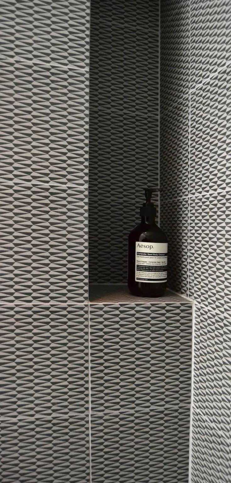 FESTEN architecture -gorgeous tiles for bathrooms. Monochrome bathroom